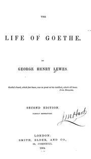 Cover of: The life of Goethe