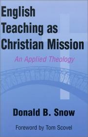 Cover of: English Teaching As Christian Mission