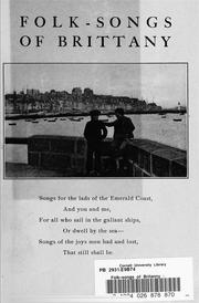 Cover of: Folk-songs of Britanny