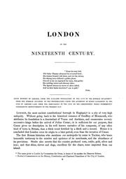 Cover of: London in the nineteenth century