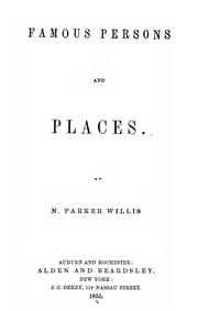 Cover of: Famous persons and places