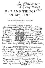 Cover of: Men and things of my time | marquis de Castellane