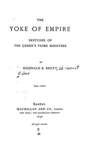 Cover of: The yoke of empire