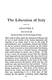 Cover of: The liberation of Italy