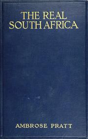Cover of: The real South Africa | Ambrose Pratt
