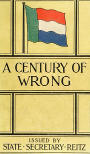 Cover of: A century of wrong