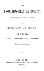 Cover of: The Englishwoman in Russia