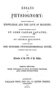 johann caspar lavater essays on physiognomy Catalogue persistent identifier https://nlagovau/nlacat-vn3139841 apa citation lavater, johann caspar (1797) lavater's essays on physiognomy with ornamental.