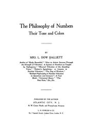 Cover of: The philosophy of numbers by Sarah Joanna Balliett