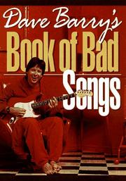 Cover of: Dave Barry's book of bad songs: Dave Barry.