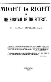 Cover of: The survival of the fittest, or the Philosophy of power | Redbeard, Ragnar pseud.