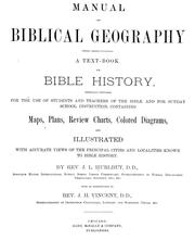 Manual of Biblical geography