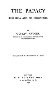 Cover of: The papacy | Gustav KrГјger