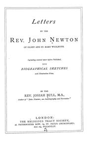 Cover of: Letters by The Rev. John Newton