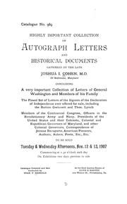 Cover of: Highly important collection of autograph letters and historical documents | Stan. V. Henkels (Firm)