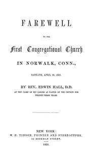 Farewell to the First Congregational church in Norwalk, Conn., Sabbath, April 29, 1855