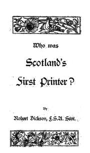 Cover of: Who was Scotland