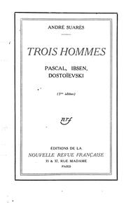 Cover of: Trois hommes | AndrГ© SuarГЁs
