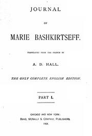 Cover of: Journal of Marie Bashkirtseff