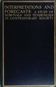 Cover of: Interpretations and forecasts | Branford, Victor.