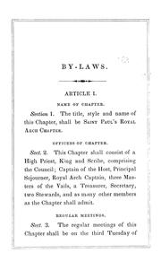 Cover of: By-laws of St. Paul
