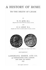 Cover of: A history of Rome to the death of Cæsar