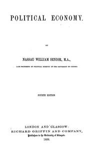 Cover of: Political economy | Nassau William Senior