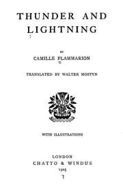Cover of: Thunder and lighting | Camille Flammarion