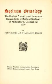 Spelman genealogy