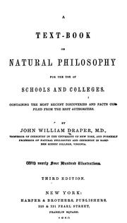Cover of: A text-book on natural philosophy