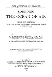 Cover of: Sounding the ocean of air
