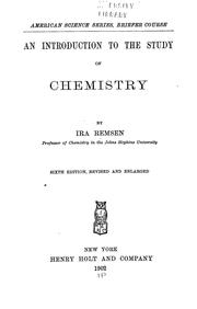 Cover of: An introduction to the study of chemistry