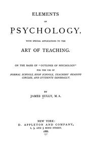 Cover of: Elements of psychology