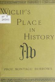 Cover of: Wiclif's place in history