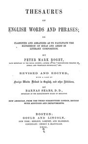 Cover of: Thesaurus of English words and phrases