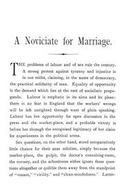 Cover of: A noviciate for marriage | Mrs. Havelock Ellis
