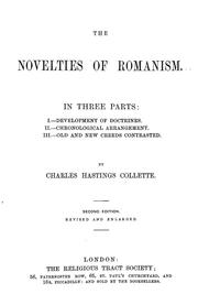Cover of: The novelties of Romanism | Charles Hastings Collette
