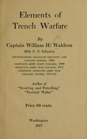 Cover of: Elements of trench warfare | Waldron, William H.