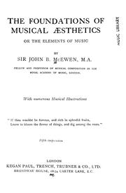Cover of: The foundations of musical æsthetics