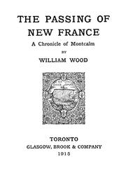 Cover of: The passing of New France
