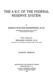 Cover of: The ABC of the federal reserve system