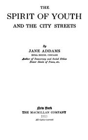 Cover of: The spirit of youth and the city streets