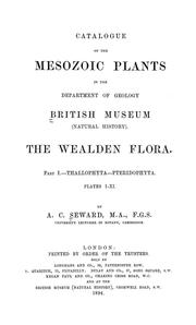 Cover of: Catalogue of the Mesozoic plants in the  Department of Geology, British Museum (Natural History) | British Museum (Natural History). Department of Geology.