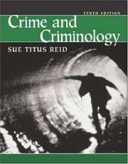 Crime and criminology by Sue Titus Reid