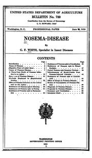Cover of: Nosema-disease | G. F. White