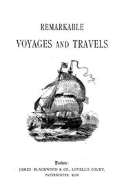 Cover of: Remarkable voyages and travels
