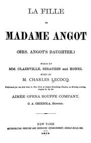 Cover of: La fille de Madame Angot = | Charles Lecocq