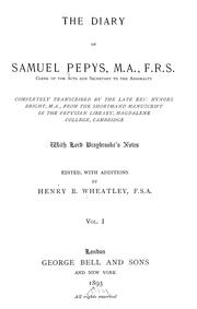 Cover of: Pepys