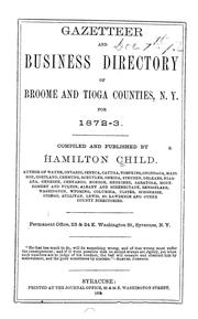 Cover of: Gazetteer and business directory of Broome and Tioga counties, N.Y. for 1872-3