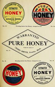 Cover of: Illustrated catalog of honey labels by A.I. Root Company.